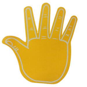 Foam-hand-high-5-yellow