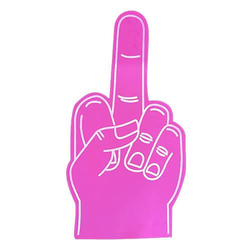 Foam-hand-middle-finger-pink